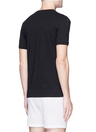 Back View - Click To Enlarge - Dolce & Gabbana - 'Sport Crest' cotton undershirt