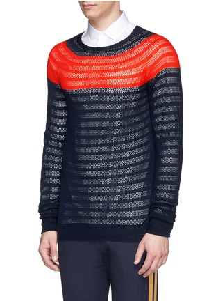 Front View - Click To Enlarge - DRIES VAN NOTEN - 'Naples' colourblock cotton sweater