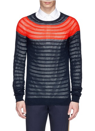 Main View - Click To Enlarge - DRIES VAN NOTEN - 'Naples' colourblock cotton sweater