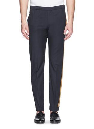 Main View - Click To Enlarge - Dries Van Noten - 'Pacino' grosgrain tuxedo ribbon drawstring pants