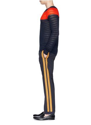 Figure View - Click To Enlarge - Dries Van Noten - 'Pacino' grosgrain tuxedo ribbon drawstring pants