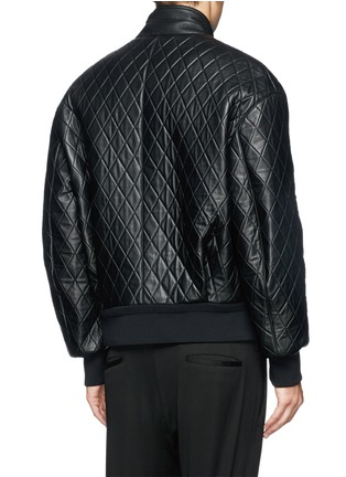 Back View - Click To Enlarge - NEIL BARRETT - Thunderbolt quilted leather bomber jacket