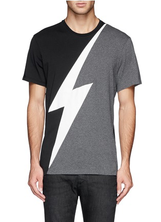 Main View - Click To Enlarge - NEIL BARRETT - Thunderbolt print T-shirt