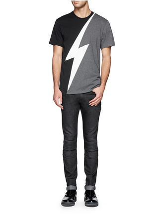 Figure View - Click To Enlarge - NEIL BARRETT - Thunderbolt print T-shirt