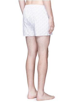 Back View - Click To Enlarge - Sunspel - Seasonal nail print boxer shorts