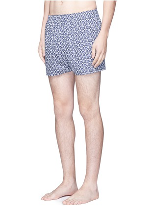 Figure View - Click To Enlarge - Sunspel - Seasonal leaf print boxer shorts