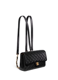 Vintage Chanel 2.55 quilted leather backpack
