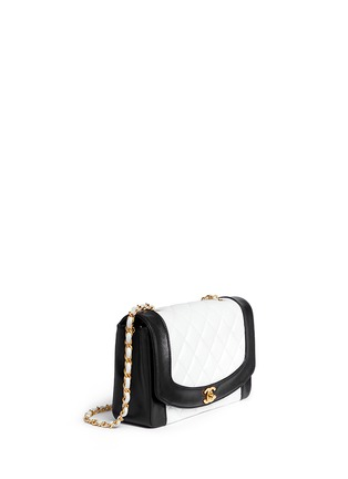 Figure View - Click To Enlarge - VINTAGE CHANEL - Bicolour quilted lambskin leather flap bag
