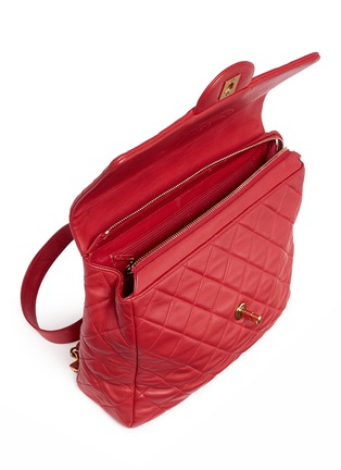 Detail View - Click To Enlarge - Vintage Chanel - Quilted lambskin leather flap bag