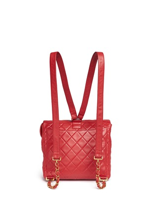 Back View - Click To Enlarge - Vintage Chanel - Quilted lambskin leather flap bag