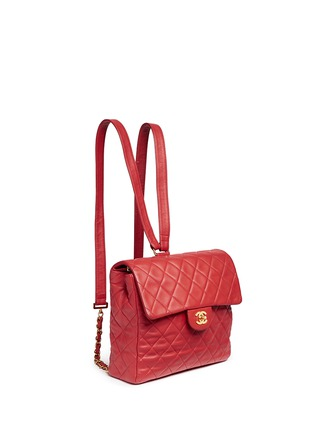 Figure View - Click To Enlarge - Vintage Chanel - Quilted lambskin leather flap bag