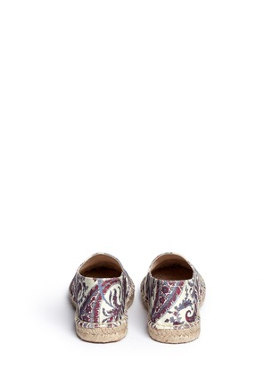 Back View - Click To Enlarge - Isabel Marant Étoile - 'Cana' paisley print cotton espadrille flats