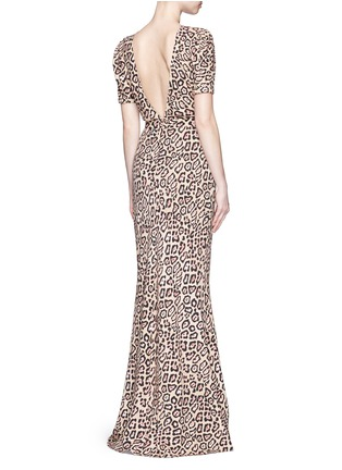Figure View - Click To Enlarge - GIVENCHY - Jaguar print stretch cady gown