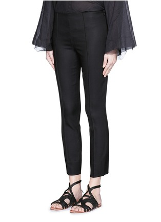 Front View - Click To Enlarge - THE ROW - 'Caro' stretch wool hopsack capri pants