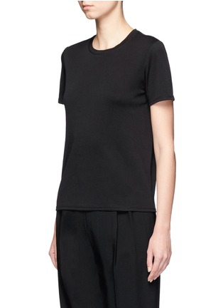 Front View - Click To Enlarge - The Row - 'Wesler' back seam jersey T-shirt
