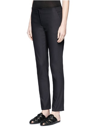 Front View - Click To Enlarge - The Row - 'Tips' techno cotton-blend slim straight pants
