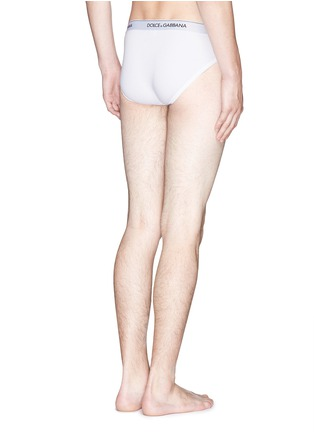 Back View - Click To Enlarge - Dolce & Gabbana - Stretch cotton briefs 2-pack set