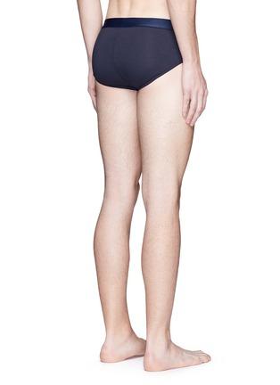 Back View - Click To Enlarge - Dolce & Gabbana - 'Brando' sport crest cotton briefs