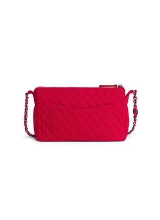 Back View - Click To Enlarge - VINTAGE CHANEL - Embossed quilted cotton zip bag