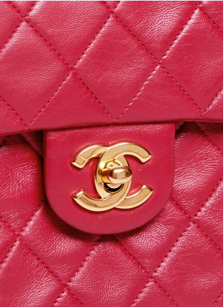 Detail View - Click To Enlarge - Vintage Chanel - Mini quilted lambskin leather flap bag