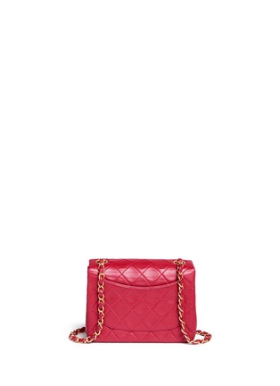 Back View - Click To Enlarge - VINTAGE CHANEL - Mini quilted lambskin leather flap bag