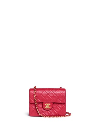 Main View - Click To Enlarge - VINTAGE CHANEL - Mini quilted lambskin leather flap bag