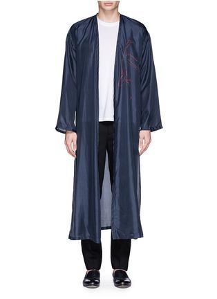 Main View - Click To Enlarge - Dries Van Noten - 'Vellano' dancer print silk robe