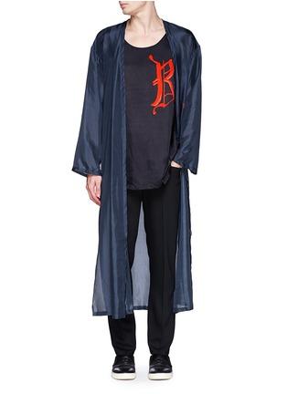 Figure View - Click To Enlarge - Dries Van Noten - 'Vellano' dancer print silk robe