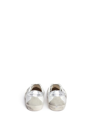 Back View - Click To Enlarge - GOLDEN GOOSE - 'Superstar' brushed leather sneakers