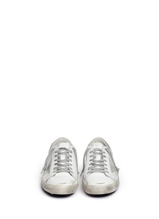 Front View - Click To Enlarge - GOLDEN GOOSE - 'Superstar' brushed leather sneakers