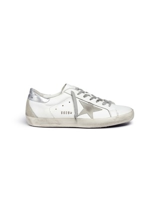 Main View - Click To Enlarge - GOLDEN GOOSE - 'Superstar' brushed leather sneakers