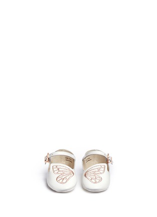 Figure View - Click To Enlarge - Sophia Webster - 'Bibi Butterfly Baby' embroidered leather infant Mary Jane flats