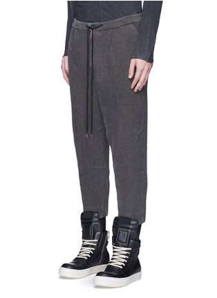 Front View - Click To Enlarge - The Viridi-anne - Textured cotton drawstring sweatpants