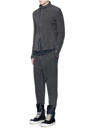 Figure View - Click To Enlarge - The Viridi-anne - Textured cotton drawstring sweatpants