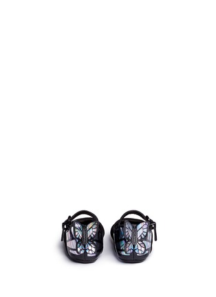 Back View - Click To Enlarge - Sophia Webster - 'Chiara Baby' holographic butterfly suede infant Mary Jane flats