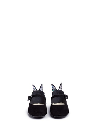 Figure View - Click To Enlarge - Sophia Webster - 'Chiara Baby' holographic butterfly suede infant Mary Jane flats