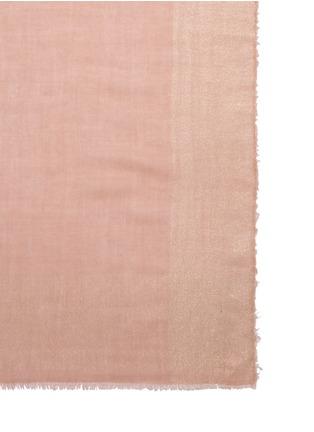Detail View - Click To Enlarge - Faliero Sarti - Metallic border cashmere-silk blend scarf
