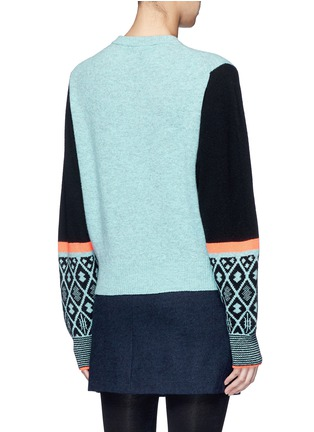 Back View - Click To Enlarge - TOGA ARCHIVES - Colourblock geometric intarsia wool blend sweater
