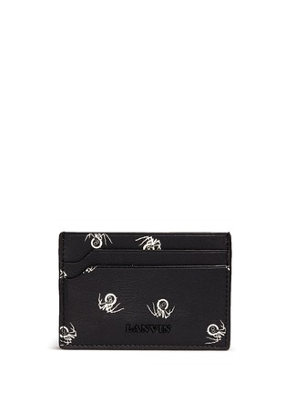 Main View - Click To Enlarge - Lanvin - Black widow print leather card case
