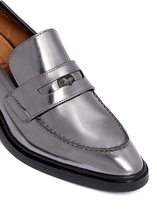 Detail View - Click To Enlarge - Coach - 'Heath' mirror leather penny loafers