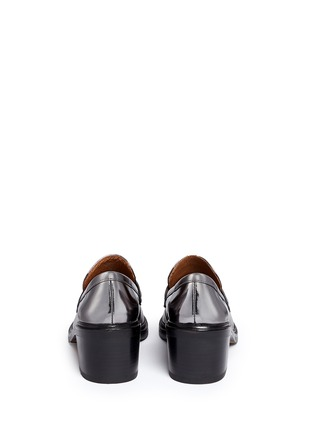 Back View - Click To Enlarge - Coach - 'Heath' mirror leather penny loafers