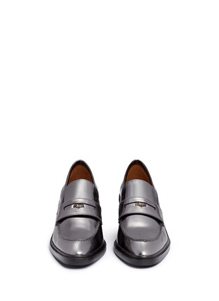 Front View - Click To Enlarge - Coach - 'Heath' mirror leather penny loafers