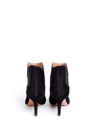 Back View - Click To Enlarge - Alaïa - Wavy side gores suede ankle boots