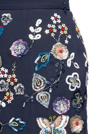 Detail View - Click To Enlarge - Needle & Thread - 'Butterfly Garden' embellished georgette skirt