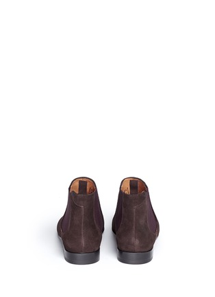 Back View - Click To Enlarge - Paul Smith - 'Falconer' suede Chelsea boots
