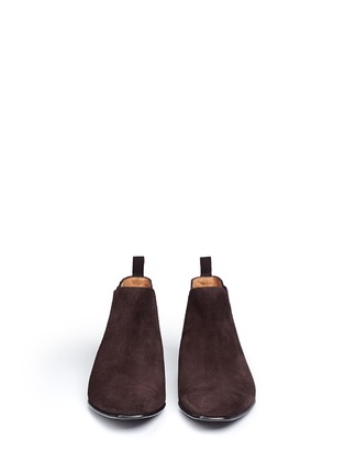 Front View - Click To Enlarge - Paul Smith - 'Falconer' suede Chelsea boots