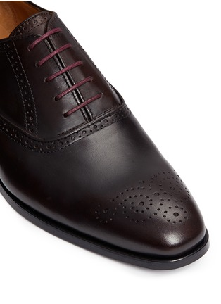 Detail View - Click To Enlarge - PAUL SMITH - 'Gilbert' brogue leather Oxfords