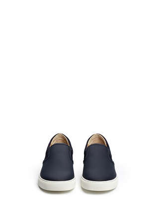 Front View - Click To Enlarge - Harrys Of London - 'Ethan Jones' suede trim tech leather skate slip-ons