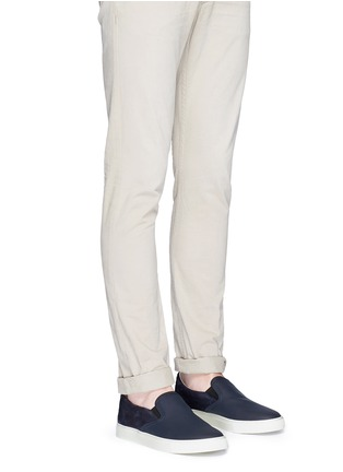 Figure View - Click To Enlarge - Harrys Of London - 'Ethan Jones' suede trim tech leather skate slip-ons