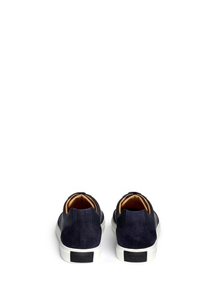 Back View - Click To Enlarge - Harrys Of London - 'Mr Jones 2' suede trim tech leather sneakers